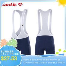 Мужские велосипедные шорты Santic, противоударные 4D шорты с подкладкой для горного и шоссейного велосипеда, дышащие летние брюки для горного в...