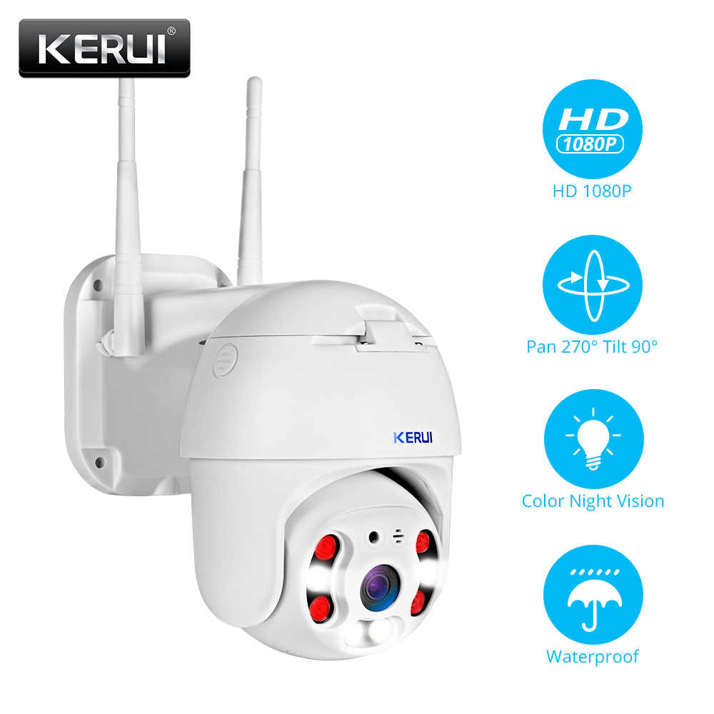 Kerui Outdoor Tahan Air Nirkabel 1080P 2MP PTZ WIFI IP Kamera Speed Dome Camera H.264 + IR Keamanan Rumah CCTV pengawasan