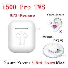 New i500 Pro TWS Wireless Earphones Air 2 GPS Positioning Name Change Smart Sensor Earbuds