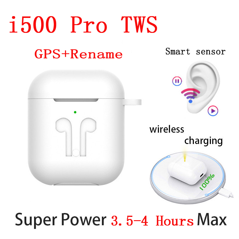 New i500 Pro <font><b>TWS</b></font> Wireless Earphones Air 2 GPS Positioning Name Change <font><b>Smart</b></font> <font><b>Sensor</b></font> Earbuds PK i50000 i90000 Pro <font><b>TWS</b></font> i100000 <font><b>TWS</b></font> image