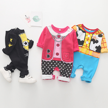 Newborn baby boys 2019 spring baby Rompers girls romper Infant fleece Jumpsuit for kids new born baby clothes cotton newborn baby rompers 2017 new baby girls boys cotton feather romper clothes kids sleeveless one piece infant jumpsuit for 0 3y