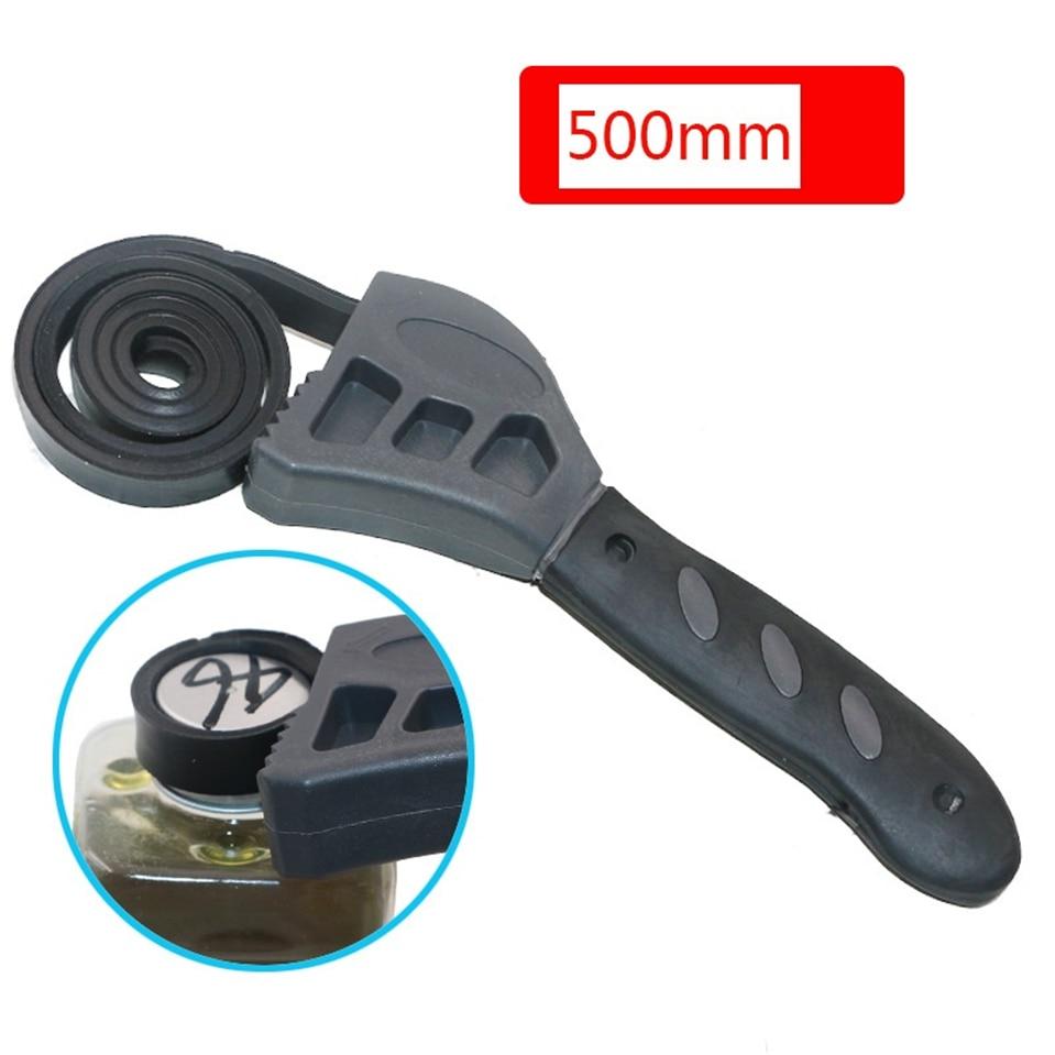 Multi-function 50CM Rubber Belt Wrench Adjustable Bottle Opener Auto Oil Filter Car Repair Spanner Hand Tools