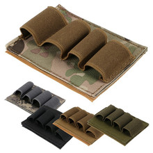 Military 12GA Rifle Buttstock Shells Magic Sticks Molle Magazine Pouch Hunting Airsoft Bandolier Bullet Ammo Carrier Holder Bag airsoft tactical hunting shotgun shell ammo carrier holder 5 round 12ga 20ga military paintball rifle gun hook