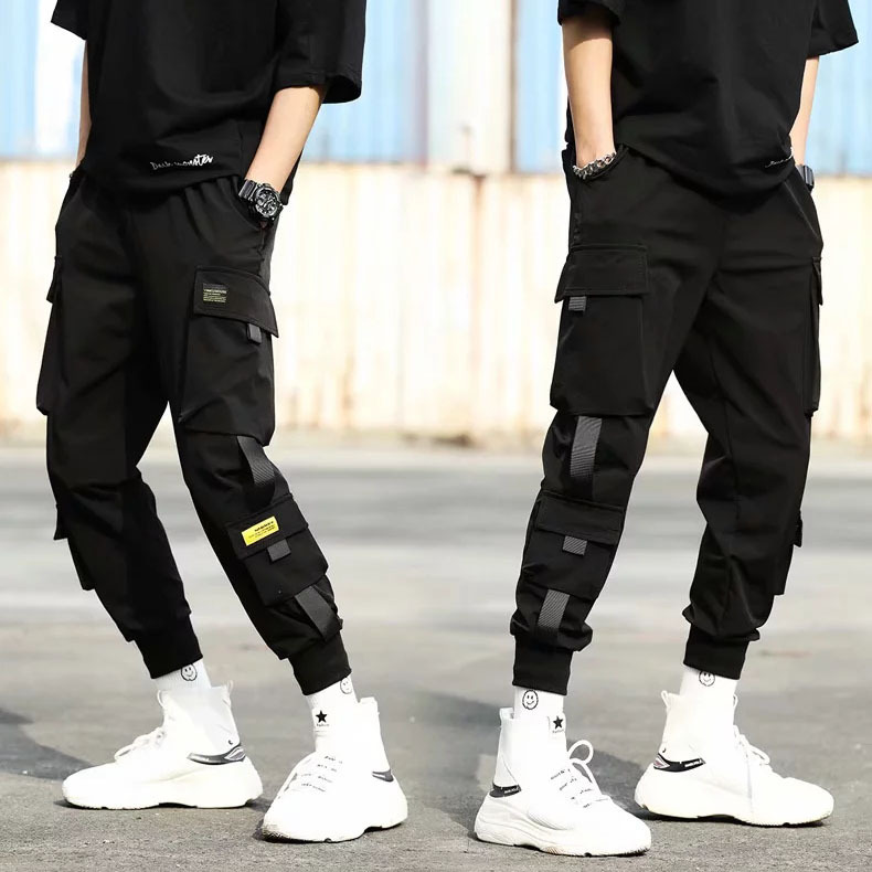 Autumn Bib Overall Men Popular Brand Hip Hop Ankle Banded Pants Korean-style Trend Loose Casual Pants Men's Sports Harem Pants
