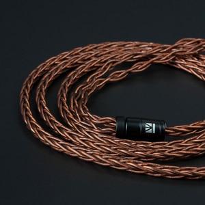Image 5 - KBEAR 8 Core Oxygen Free Balanced Cable 2.5/3.5/4.4MM 3.5MM  MMCX 2.5MM /2PIN/QDC/TFZ For BLON BL 05 BL03 ZSX ZS10  V90 PRO