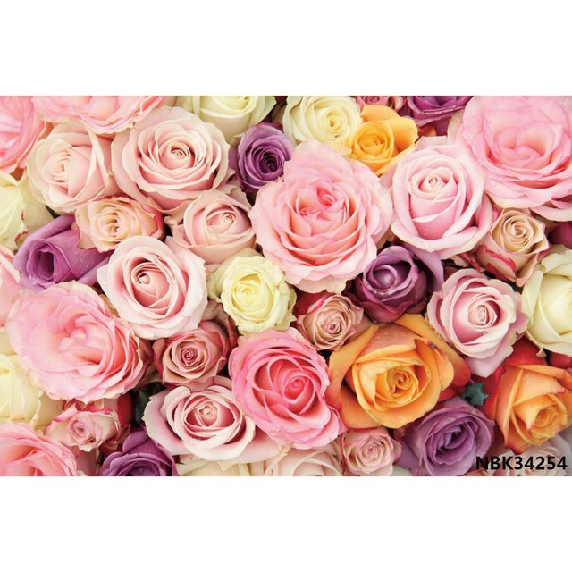 AOFOTO 6x4ft Sweet Flowers Backdrop Romantic Roses Banner Photography Background Party Decor Photo Studio Props Baby Shower Girl Kid Child Inant Artistic Portrait Digital Video Drops Vinyl Wallpaper