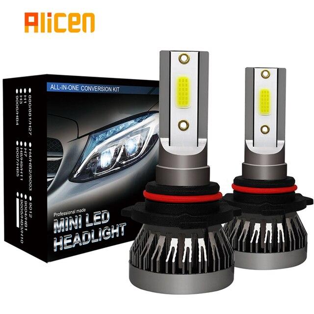 2 Stuks Auto Koplamp Mini Lamp H7 Led lampen H1 Led H8 H11 Koplampen Kit 9005 HB3 9006 HB4 6000K Mistlamp 12V Led Lamp 36W 8000LM