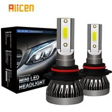 2PCSไฟหน้ารถMiniโคมไฟH7 หลอดไฟLED H1 LED H8 H11 ไฟหน้าชุด 9005 HB3 9006 HB4 6000K LED 12V 36W 8000LM