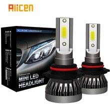 Farol de carro minilâmpada led h1, h7, h8 e h11, 2 peças, kit 9005, hb3, 9006, hb4, 6000k farol de milha 12v led lâmpada 36w 8000lm