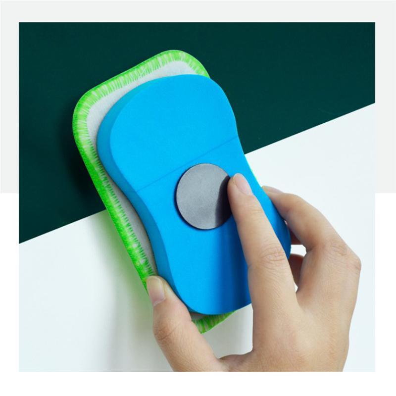 10Pcs Detachable Chalk Cleaner Special Whiteboard Wipe Soft Fleece Blackboard Eraser Magnetic Towel Chalk Cleaning Eraser