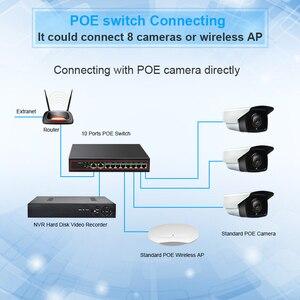 Image 4 - 10 portu POE włącznik Ethernet 52V sieci VLAN 10/100 mb/s IEEE 802.3af/w przełącznik sieciowy dla kamera IP CCTV bezprzewodowy punkt dostępowy 250M Drop Shipping