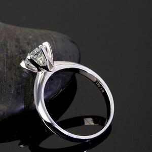 Image 2 - Женское кольцо из серебра 925 пробы, с муассанитом