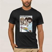 New fashion trend Harajuku Tshirt MenS Bob Ross Painting Zombie Beavis And Butthead Parody 3D Printed 2019 T-shirt