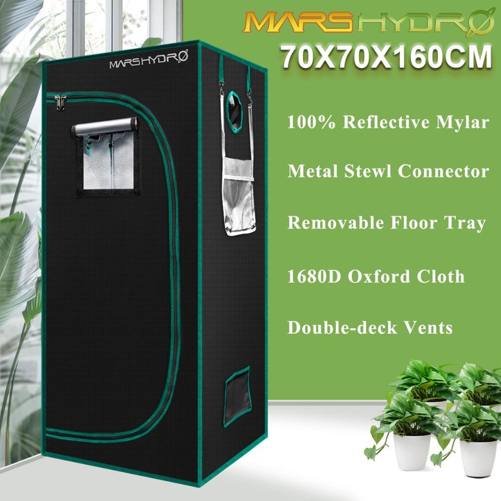 1680D Mars Hydro 70X70X160cm tienda de cultivo interior, cultivo de plantas de habitación, invernaderos de jardín