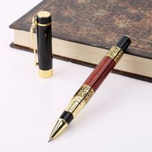 Luxury Metal Ballpoint Pen Imitation Wood Emboss Pattern Rollerball Office School Stationery X6HB