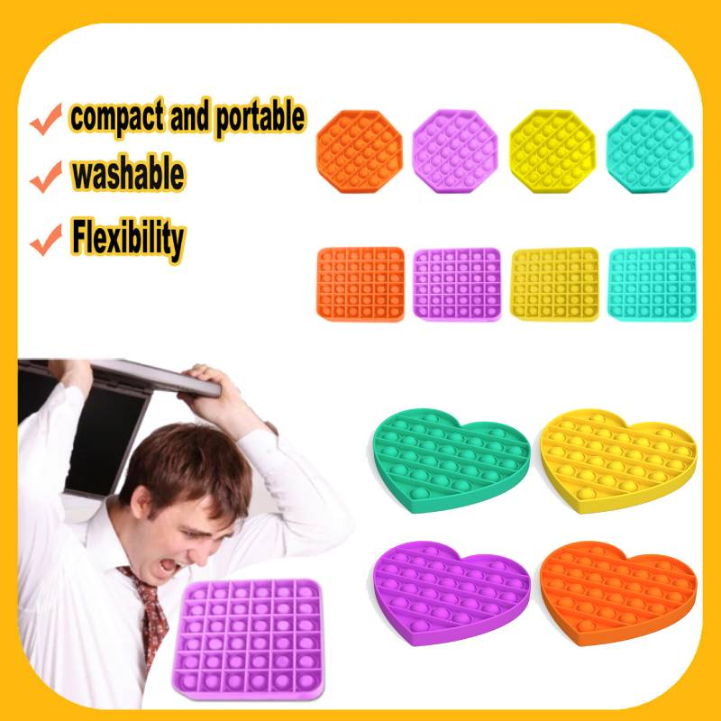Antistress Toys Bubble Popping Game Push Fidget Sensory Toy Funny Adult Kids Reliver Stress Toys Silicone Autism Special Needs 1