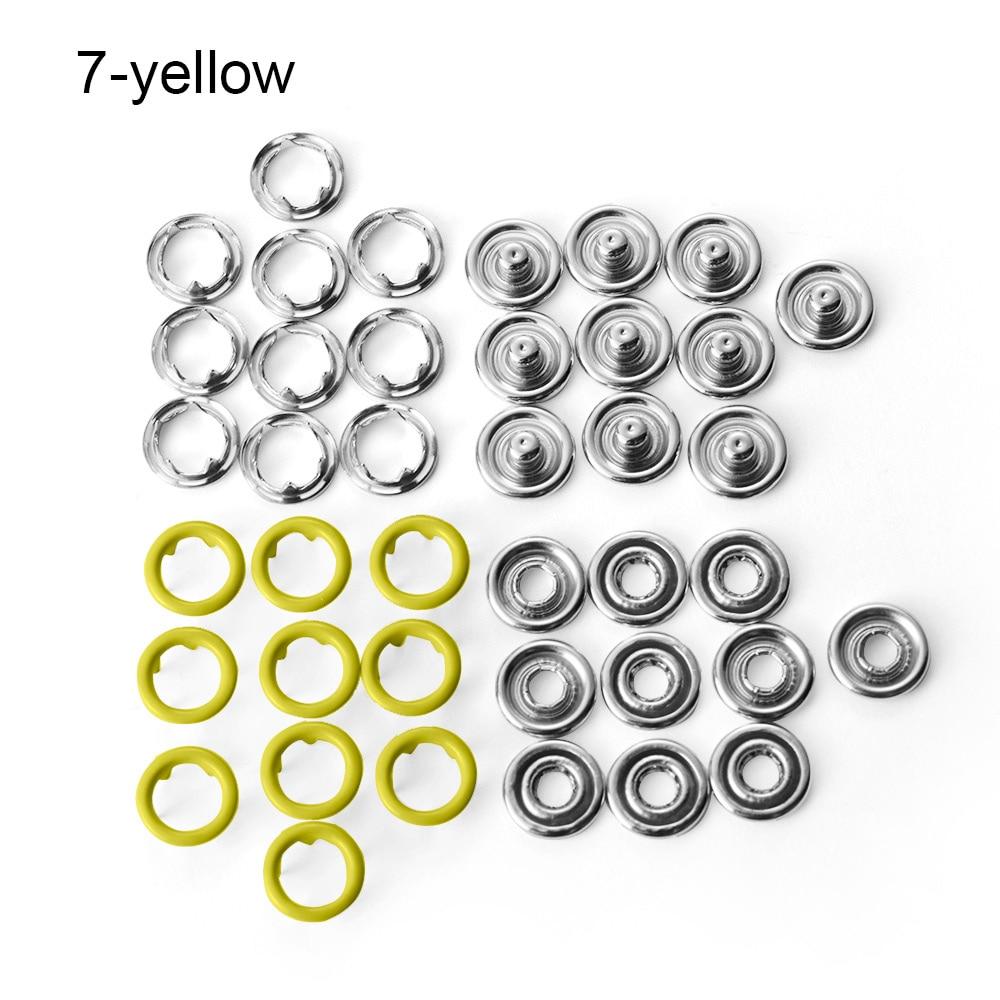 40pcs//Set Colorful Metal Five-prong Buckle Fasteners Press Button Snap Buttons K