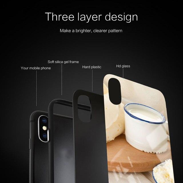 mleko ser Silicone Glass Phone Case For Xiaomi Redmi 9A 8A 7A Note 9 8 7 Pro Y3 9S 8T Balck Cover 2