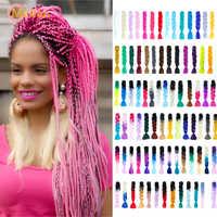 MEIFAN 100g 24 zoll Ombre Jumbo Flechten Haar Extensions Gefälschte Haar für Flechten Farbige Stränge Häkeln Haar Zubehör