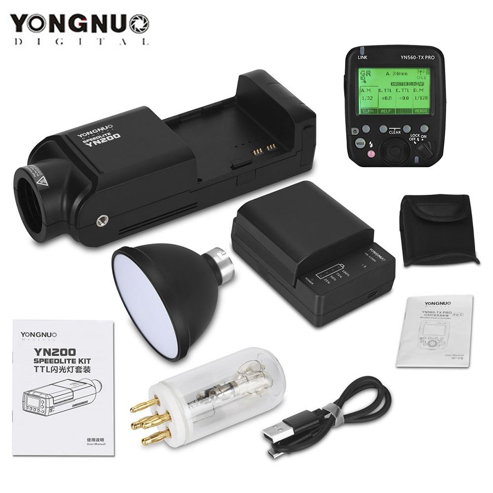 Литиевая батарея YONGNUO YN200 TTL HSS 2,4 ГГц 200 Вт с USB Type C, совместима с устройствами Canon, Nikon, совместимыми с устройствами (II)/YN560-TX Pro/YN862