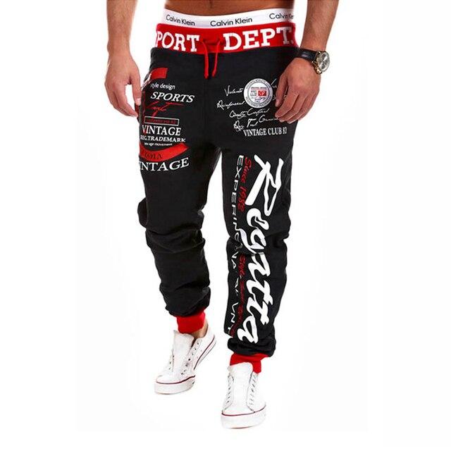 SWAGWHAT Men Pants Hip Hop Joggers Pants 2019 New Male Trousers Men Letters Printed Casual Pants Sweatpants Man Dancing wear 2