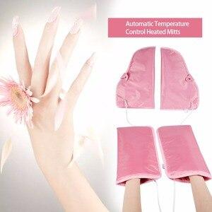 Image 1 - Elektrikli tırnak parafin ağda ısıtmalı eller ayak eldiveni kızılötesi terapi SPA cilt bakımı ısıtmalı balmumu eldivenler tırnak sanat manikür araçları