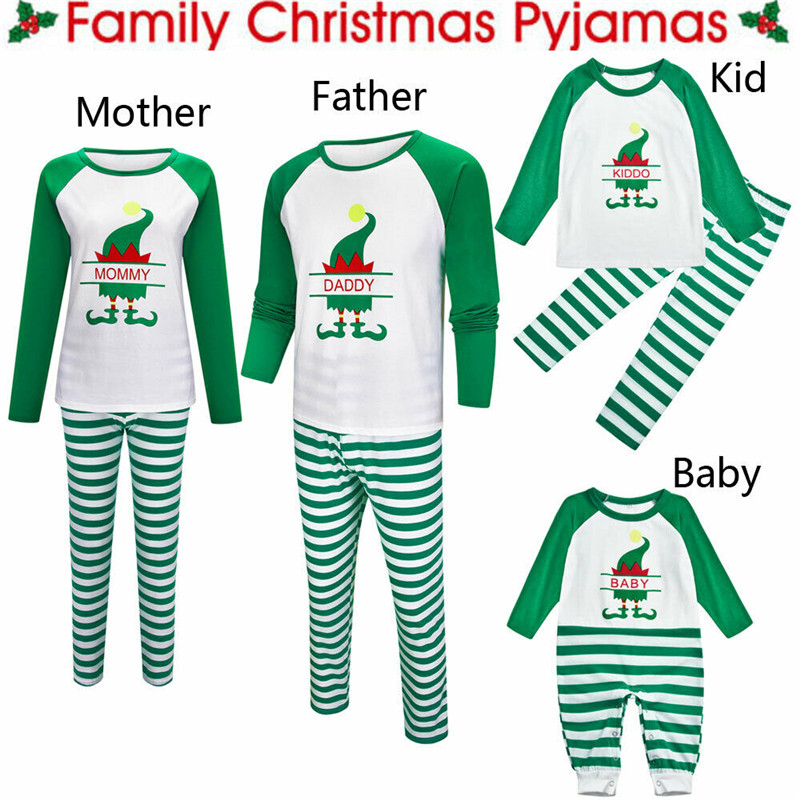 Christmas Family Matching Pyjamas PJS Set Xmas Santa Sleepwear Nightwear Gift