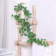190CM Artificial Ivy green Leaf Garland Plants Vine Fake Foliage Flowers Home Decor Wall Hanging Fake Artificial Plant artificial ivy green leaf wicker garland plants vine fake foliage home garden leaves osier decor fake rattan string grass cactus