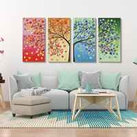 Wall Art Canvas Painting Colourful Leaf Trees abstract decorative pictures poster Spray wall pictures for living room wall