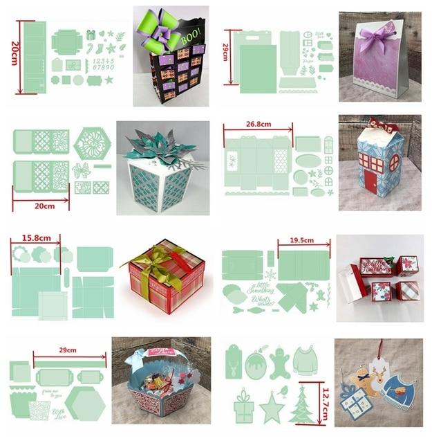 Cutting Dies Christmas Gift Treasure Bag Metal Cutting Dies Scrapbooking Card Making Embossing Stencil Diecut Template New Die