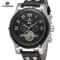 Forsining tourbillon 남자 시계 톱 브랜드 럭셔리 방수 시계 남자 자동 기계 손목 시계 relogio masculino|기계식 시계|   -