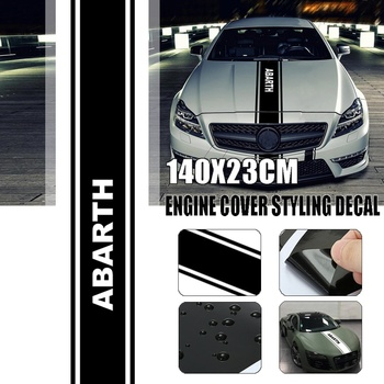 цена на 140*23cm 3 Colors Car Hood Cover Decal Engine Cover Sticker for Seat Audi Benz Opel Toyota Volkswagen Suzuki BMW Car Styling