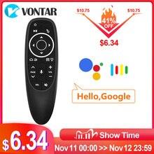 G10S Pro Air souris rétro éclairé voix télécommande sans fil Google lecteur IR apprentissage G10 Gyroscope pour Android TV Box H96 max