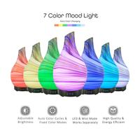 100ml Glass Marble Pattern Essential Oils 4 Time Setting Colorful Light Aroma Diffuser Cool Mist Humidifier for Home and Office