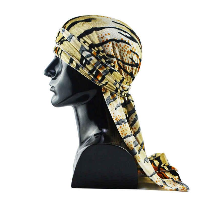 2020 ユニセックス男性女性通気性バンダナ帽子ベルベットバンダナは斗デュぼろロングテール headwrap 化学及血キャップヒョウ柄ターバンキャップ