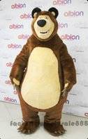 Halloween Brown Bear Theme Birthday Party Adult Size Fancy Dress Outfit Grizzly Bear Mascot Costumes Outdoor Cartoon