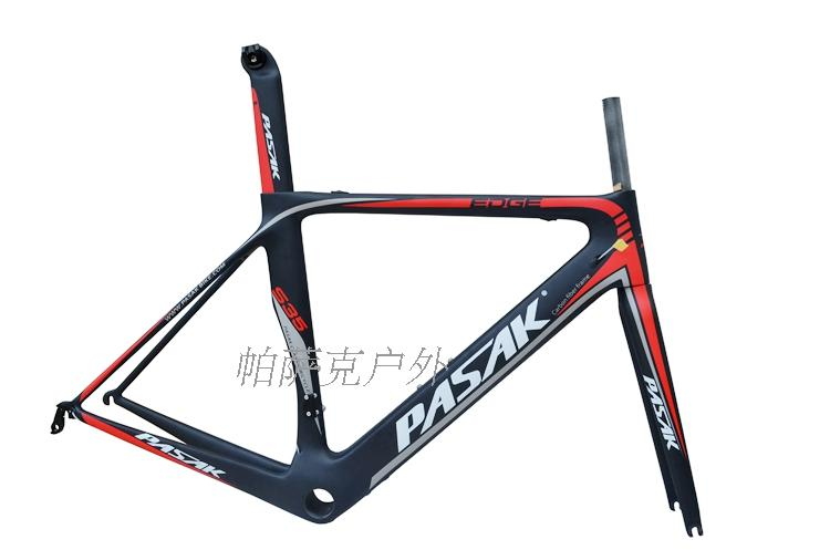 Pasak S35 700C Road Bike Carbon Frame Ultralight Frames Cable Internal Machinery Electric Derailleur Bicycle T800 Carbon Fibre - 5