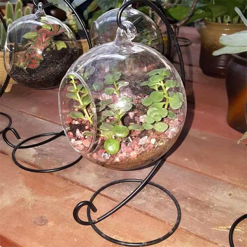 Kreatywna przejrzysta szklana kulka wazon mikro element dekoracji krajobrazu terrarium z roślinami powietrznymi soczysty wiszący pojemnik na doniczki