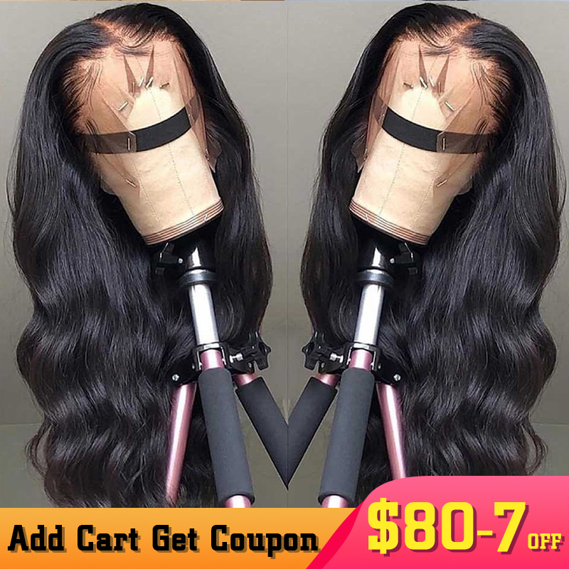Body Wave 13x6 Lace Front Human Hair Wigs Brazilian 360 Lace Frontal Wig Bob 250 Desnity Fake Scalp Glueless Full Dolago Wig