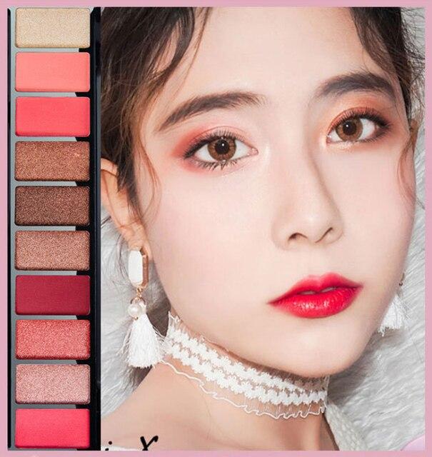 10 Colors Geometric Matte Eyeshadow Palette Glitter Mermaid Makeup Pallete Waterproof Long Lasting Eye Shadow Cosmetics TSLM1 3