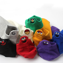 Boat Socks New Socks Simple Shallow Socks Korean Version of The Interesting Socks Comfortable Solid Color Non-slip Cotton Socks