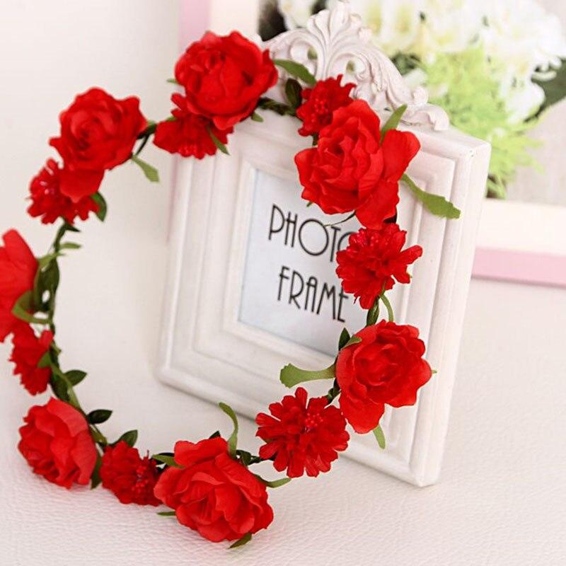 Богемный стиль, цветочный ободок для волос с короной, Модный женский ободок с цветами для невесты, подружки невесты, женские пляжные