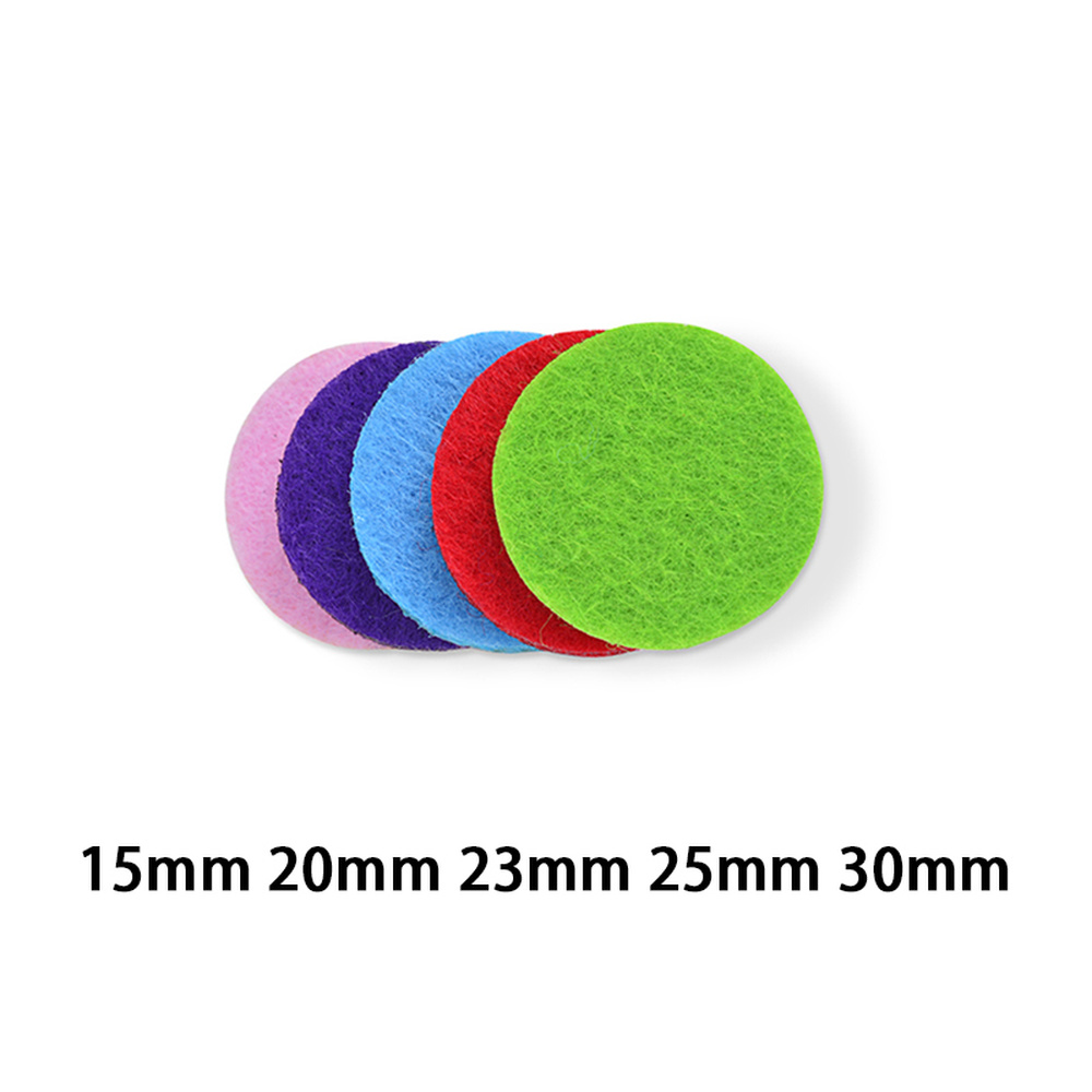 10pcs Mixed Colorful Thick Essential Oil Diffuser Locket Perfume Aromatherapy Refill Felt Pads For Diffuser Necklace