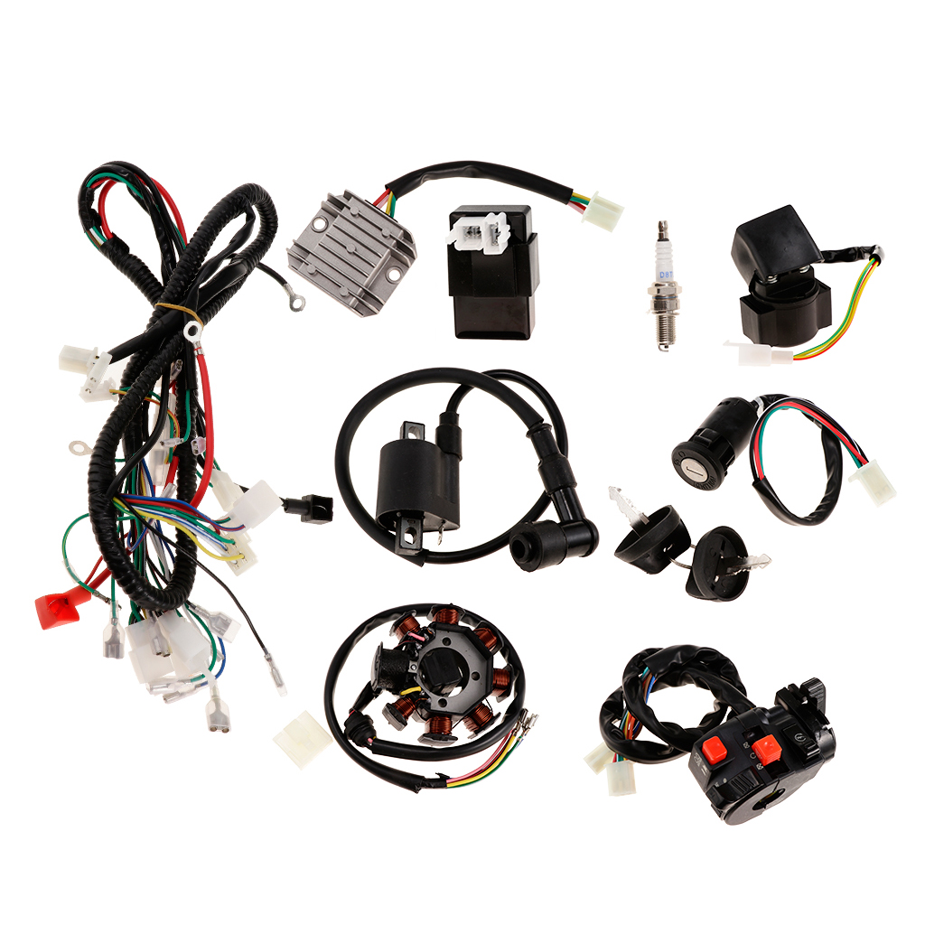 starcraft wiring harness electrics wiring harness coil cdi spark plug for 150 250cc atv  coil cdi spark plug for 150 250cc atv