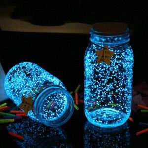 DIY Luminous Glow Gravel Noctilucent Sand Romantic Sky Blue Fish Tank Aquarium Fluorescent Particles New Year Party Decoration
