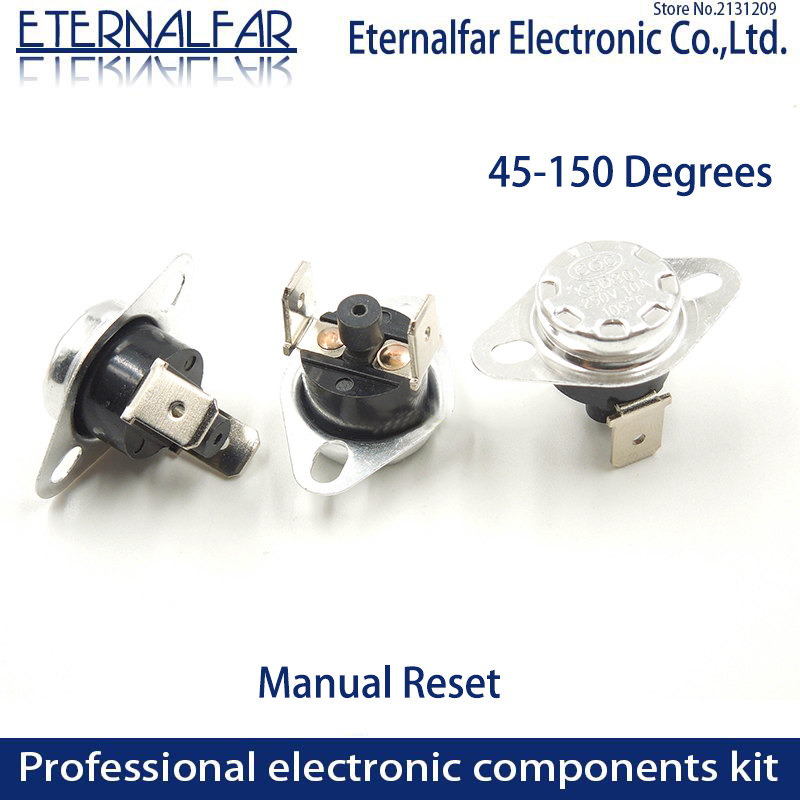 KSD301 250V 10A 125°C TEMPERATURE SWITCH THERMOSTAT NORMALLY CLOSE A440