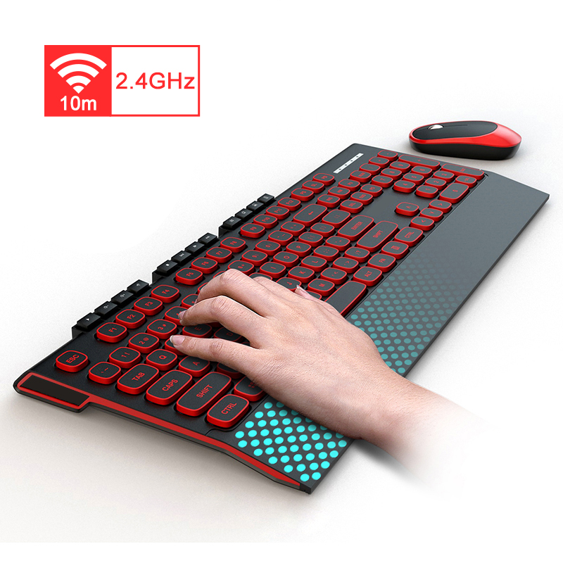 2.4G Wireless Gaming Keyboard Mouse Combo Silent Button Keyboard Optical Mouse For Macbook Lenovo Dell HP Asus Laptop Computer
