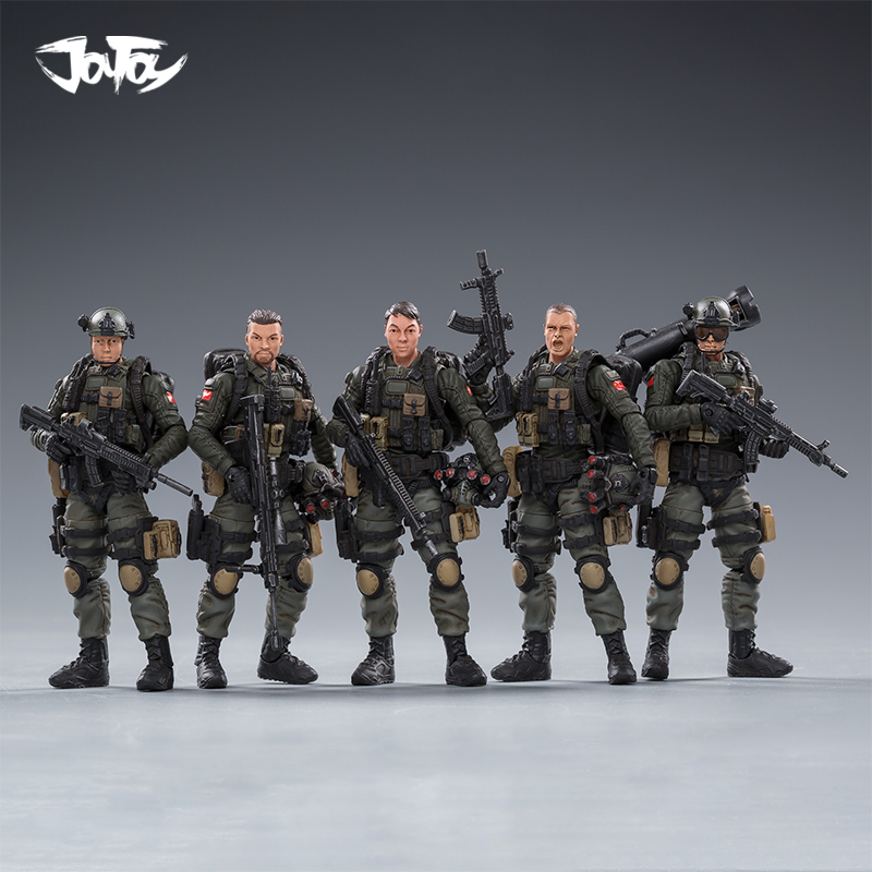 NEW  JOYTOY 1:18 Action Figures PLA Army Anti-terrorism Unit Collection Model Toys