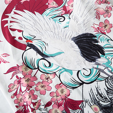 Японский Стиль Кимоно Куртки Журавль Цветочный 2020 Мужчины Харадзюку Уличная одежда Шорты Куртка Повседневный Тонкий Платье Пот Одежда Япония Лето