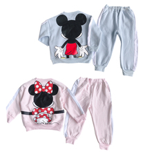 Baby Boys Girls Kids Clothes Sets Sport Suit Mickey Minnie Sweatshirt + Pants Winter Outfits Tracksuit Children Clothing Set